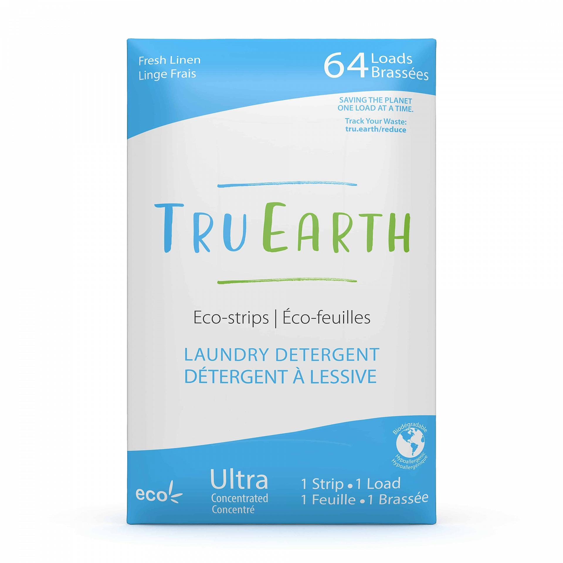 Tru_Earth_Eco_strips_Laundry_Detergent_fresh_linen_64_Loads